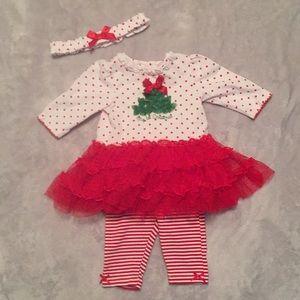 VGUC Baby Girl Christmas Outfit